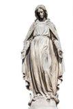 Άγαλμα του αγγέλου που απομονώνεται στο λευκό Στοκ Φωτογραφίες