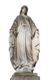 Άγαλμα του αγγέλου που απομονώνεται στο λευκό Στοκ Φωτογραφία