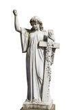 Άγαλμα του αγγέλου που απομονώνεται στο λευκό Στοκ φωτογραφία με δικαίωμα ελεύθερης χρήσης