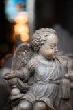 Άγαλμα του αγοριού αγγέλου στην εκκλησία Σουηδία, Ευρώπη Στοκ φωτογραφίες με δικαίωμα ελεύθερης χρήσης