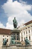 Άγαλμα του αυτοκράτορα Francis ΙΙ στο παλάτι Hofburg στο κέντρο Στοκ Φωτογραφίες