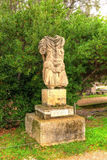 Άγαλμα του Αδριανού στην αρχαία αγορά της Αθήνας Στοκ εικόνα με δικαίωμα ελεύθερης χρήσης