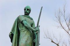 Άγαλμα του βασιλιά Afonso Henriques Guimaraes Πορτογαλία Στοκ εικόνα με δικαίωμα ελεύθερης χρήσης