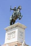 Άγαλμα του βασιλιά Felipe IV από το Pietro Tacca Plaza de Oriente Στοκ Εικόνα