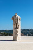 Άγαλμα του βασιλιά Joao ΙΙΙ της Πορτογαλίας, Κοΐμπρα (Πορτογαλία) στοκ εικόνες