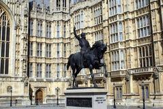 Άγαλμα του βασιλιά Richard Ι, Γουέστμινστερ, Λονδίνο, Αγγλία Στοκ φωτογραφία με δικαίωμα ελεύθερης χρήσης