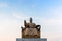 Άγαλμα του βασιλιά Sejong Στοκ φωτογραφία με δικαίωμα ελεύθερης χρήσης