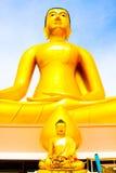 Άγαλμα του Βούδα, μεγάλο χρυσό άγαλμα του Βούδα στην Ταϊλάνδη Στοκ εικόνα με δικαίωμα ελεύθερης χρήσης