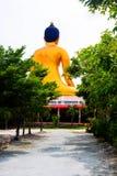 Άγαλμα του Βούδα, μεγάλο χρυσό άγαλμα του Βούδα στην Ταϊλάνδη Στοκ Εικόνα