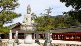 Άγαλμα του Βούδα σε έναν ναό στην Ιαπωνία Στοκ Φωτογραφία