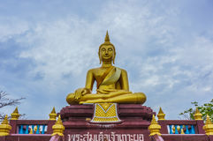 Άγαλμα του Βούδα σε Wat Lampho Kho Yo σε Songkhla, Ταϊλάνδη Στοκ Εικόνα
