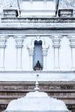 Άγαλμα του Βούδα στον τοίχο του stupa σε Anaradhapura Στοκ Φωτογραφία
