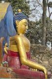 Άγαλμα του Βούδα στο ναό πιθήκων Swayambhunath στο Κατμαντού, Νεπάλ Στοκ φωτογραφίες με δικαίωμα ελεύθερης χρήσης