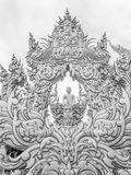 Άγαλμα του Βούδα στο ναό Wat Rong Khun σε chiang-Rai, Ταϊλάνδη Στοκ Εικόνα