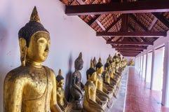 Άγαλμα του Βούδα υπόλοιπου κόσμου σε Wat Phra Borommathat Chaiya Στοκ Εικόνες