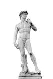 Άγαλμα του Δαβίδ που απομονώνεται στο άσπρο υπόβαθρο στοκ εικόνες