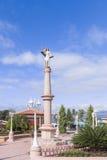Άγαλμα του Ιησούς Χριστού στο πάρκο του San Sebastian στην Ονδούρα Στοκ Εικόνα