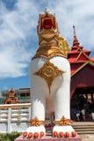 Άγαλμα του λιονταριού μπροστινό Bodh Gaya Στοκ Φωτογραφίες