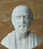 Άγαλμα του Ιπποκράτη, παθολόγος αρχαίου Έλληνα Στοκ εικόνες με δικαίωμα ελεύθερης χρήσης