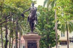 Άγαλμα του κρατικού ιδρυτή Simon Bolivar στο πάρκο Plaza bolívar Στοκ φωτογραφία με δικαίωμα ελεύθερης χρήσης