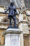 Άγαλμα του Λονδίνου του Όλιβερ Κρόμγουελ σε StMargaret ST Στοκ Φωτογραφίες