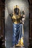 Άγαλμα του μαύρου madonna Στοκ Εικόνες