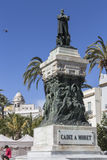 Άγαλμα του πολιτικού Segismundo Moret, Plaza de San Juan δ του Καντίζ Στοκ φωτογραφίες με δικαίωμα ελεύθερης χρήσης