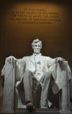 Άγαλμα του Προέδρου των ΗΠΑ Abraham Lincoln μέσα στο μνημείο του Λίνκολν Στοκ Φωτογραφίες