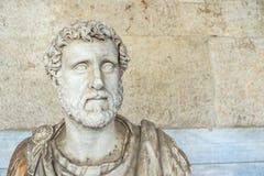 Άγαλμα του ρωμαϊκού αυτοκράτορα Antoninus Pius Στοκ Φωτογραφία