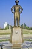 Άγαλμα του στρατηγού Dwight D Eisenhower Αμπιλέν, Κάνσας Στοκ Εικόνες