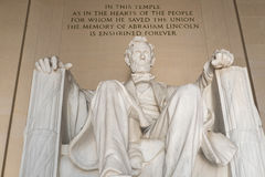 Άγαλμα του Abraham Lincoln στο μνημείο του Λίνκολν στην Ουάσιγκτον Στοκ φωτογραφία με δικαίωμα ελεύθερης χρήσης