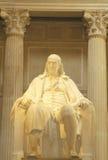 Άγαλμα του Benjamin Franklin στο ίδρυμα του Franklin, Φιλαδέλφεια, PA Στοκ φωτογραφία με δικαίωμα ελεύθερης χρήσης