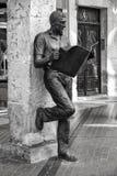 Άγαλμα του Burgos ή ο αναγνώστης εφημερίδων Στοκ Φωτογραφίες