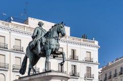 Άγαλμα του Carlos ΙΙΙ στη Μαδρίτη, Ισπανία. Στοκ εικόνες με δικαίωμα ελεύθερης χρήσης