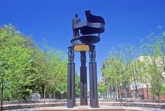 Άγαλμα του Duke Ellington, πόλη της Νέας Υόρκης, Νέα Υόρκη Στοκ εικόνα με δικαίωμα ελεύθερης χρήσης