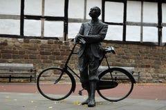 Άγαλμα του Edward Elgar, καθεδρικός ναός Hereford, Herefordshire Στοκ Εικόνα