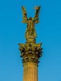 Άγαλμα του Gabriel αρχαγγέλων, τετράγωνο ηρώων, Βουδαπέστη Στοκ Εικόνες