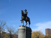 Άγαλμα του George Washington, δημόσιος κήπος της Βοστώνης, Βοστώνη, Μασαχουσέτη, ΗΠΑ Στοκ Φωτογραφίες