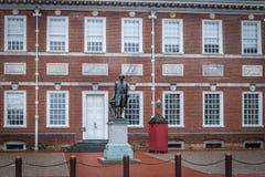 Άγαλμα του George Washington στην αίθουσα ανεξαρτησίας - Φιλαδέλφεια, Πενσυλβανία, ΗΠΑ στοκ εικόνες
