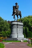 Άγαλμα του George Washington στους δημόσιους κήπους της Βοστώνης Στοκ Φωτογραφία