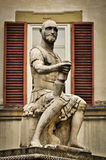 Άγαλμα του Giovanni delle Bande Nere στη Φλωρεντία Στοκ Εικόνες