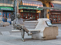Άγαλμα του Imre Kalman στη Βουδαπέστη, Ουγγαρία Στοκ Φωτογραφία