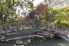 Άγαλμα του Imre Nagy στη Βουδαπέστη, Ουγγαρία Στοκ φωτογραφία με δικαίωμα ελεύθερης χρήσης