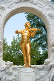 Άγαλμα του Johann Strauss στη Βιέννη, Αυστρία Στοκ Εικόνες