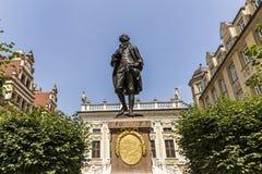 Άγαλμα του Johann Wolfgang Goethe, Λειψία Στοκ Φωτογραφία