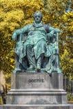 Άγαλμα του Johann Wolfgang von Goethe στη Βιέννη, Αυστρία Στοκ εικόνα με δικαίωμα ελεύθερης χρήσης
