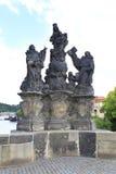Άγαλμα του Madonna, SS. Dominic και Thomas Aquinas. Στοκ εικόνα με δικαίωμα ελεύθερης χρήσης