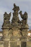 Άγαλμα του Madonna, ST Dominic και Thomas Aquinas στο Charles Στοκ Εικόνα