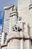 Άγαλμα του Miguel de Θερβάντες Saavedra στη Μαδρίτη, Ισπανία Στοκ Εικόνα