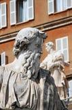 Άγαλμα του Saint-Paul ο απόστολος στη πόλη του Βατικανού στοκ φωτογραφία με δικαίωμα ελεύθερης χρήσης